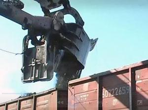 Погрузка угля в вагон